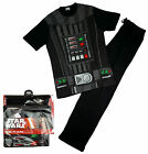 Mens DARTH VADER Star Wars Novelty Costume T-Shirt Pyjamas Black S M L XL