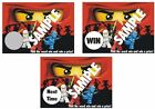 Lego Ninjago - Scratch Off Tickets - 12 Tickets REQUIRED per Order!!!