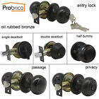 Ball Door Knob Handle Oil Rubbed Bronze Entrance/Privacy/Dummy/Passage Lockset