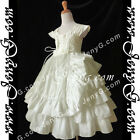 #A6I6 Girl Christening Baptism First Holy Communion Birthday Evening Gown Dress