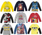 Boys Kids Official Licensed Disney Various Character Long Sleeve T Tee Shirt Top