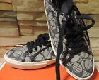 New Coach Kalyn sneakers denim patent navy vanilla tennis Signature quilted