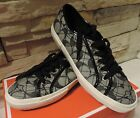 New Coach Kalyn Sneakers denim patent black vanilla tennis Signatur quilted