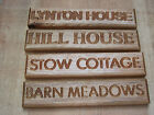 PERSONALISED, CARVED, CUSTOM ENGRAVED OUTDOOR WOODEN NAME PLAQUE, OAK OR BEECH