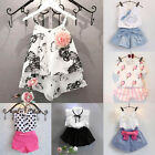 Kyпить 2PCS Baby Kids Girls Summer Outfits Toddler Top Shirt   Pants Shorts Clothes Set на еВаy.соm