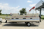 2006 TRACKER PARTY BARGE 20' WITH 50HP MERCURY 4 STROKE PLUS TRAILER NO RESERVE
