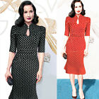 Mermaid Sexy Womens Vintage Bodycon Formal Dress Office Work Pencil PARTY XS~XL