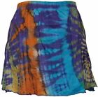 Hippie Tie dye Womens Mini Short  Skirt Ladies Outgoing Festival Gothic Skirts