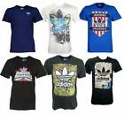 adidas Originals Mens Cotton crew T-Shirt top  Sz XS to XL Black White Navy