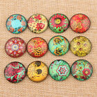 Flatback Cameo Embellishment Embroidery Sunflower Photo Glass Round Cabochons