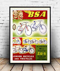 BSA Junior  Bicycles : Vintage Cycle  advertising  , poster, Wall art.