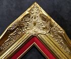 "4"" Gold Leaf Wood Antique Picture Frame wide photo art wedding gallery B9GR"