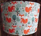 Fox Lampshade lamp shade shabby chic children's nursery orange mint Free Gift