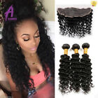 Brazilian Hair 13*4 Lace Frontal with 3 Bundles Human Hair Extensions Curly hair
