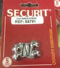 MIRROR SCREWS PACK OF 4 VARIOUS SIZES CHROME HEAD