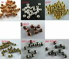 Wholesale Silver/Gold/Copper/Bronze Spacers End Beads 4-10mm