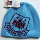 WEST HAM OFFICIAL SKI HAT WOOLLY BEANIE,NEW, ONE SIZE FITS,  SKY BLUE only