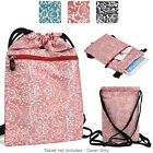6 - 8 inch Tablet Paisley Protective Drawstring Backpack Case Cover BG10P2B2-1