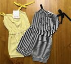 *NEW* PAPOOSE GIRLS STRIPED PLAYSUIT YELLOW BLACK ASSORTED SUMMER