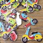 10/50/100/500pcs Motorcycle Wood Buttons Sewing Kid's Craft  Scrapbooking W308