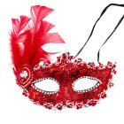 Easter Multicolor Real Feather Venetian Masquerade Costume Ball Dance party Mask