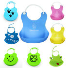 Waterproof Newborn Baby Infants Silicone Bibs Toddler Lunch Saliva Aprons Towel