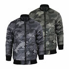 Mens Jacket Smith & Jones Romanesque Camo MA1 Military Bomber Harrington Coat