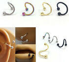 100P Stainless Steel S Shape  16g Lip Nose Ear Tragus Ring body piercing jewelry