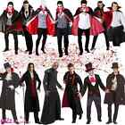 MENS VAMPIRE HALLOWEEN COUNT DRACULA BLOODTHIRSTY ADULT FANCY DRESS COSTUME CAPE
