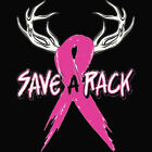 Save A Rack Breast Cancer Awareness Ribbon Woman's T-Shirt All Sizes & Colors