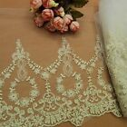 Embroidered Hollow Lace Retro Decorative Lacework Trims Beige Clothes Accessory