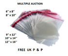 Clear Garment Cellophane Bags T-Shirt Packing With Self Seal All Sizes!