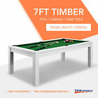 NEW! 7FT Pool Dinning Office Snooker Billiards Table Free Accessory AU Post $649.99 AUD on eBay