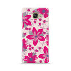 DYEFOR HOT PINK FLOWER PATTERN PINK CASE COVER FOR SAMSUNG GALAXY MOBILE PHONES