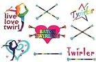 BATON TWIRLING WINDOW CLINGS  BEDROOM WINDOWS LIVE LOVE TWIRL BATON GIFT TWIRLS