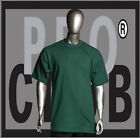 1 New Mens Pro Club Heavyweight Forest Green Blank T Shirt M to 3XL PROCLUB