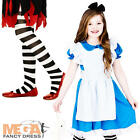 Storybook Alice + Tights Girls Fancy Dress World Book Day Week Childrens Costume