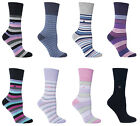 Gentle Grip - 2 Pack Womens Thin Loose Wide Top Cushioned Foot Colorful Socks