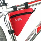 Front Waterproof Cycling Pannier Bag Pouch Mountain Bike Bicycle Rack Tube Frame
