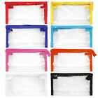 1Pc Clear Zippered Cosmetic Pouch Transparent Vinyl Plastic Makeup Bag *Pick1