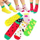 1 pair Womens Mens Unisex Cotton Fruit Cartoon Ankle Low Cut Socks Hosiery Girls