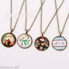 GIFT 1PC European Retro Gem Crystal Necklace Santa Claus Christmas Gift Nechlace