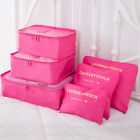 9Pcs Waterproof Clothes Storage Bags Packing Cube Travel Luggage Organizer Pouch фото