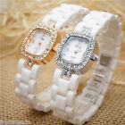 New Fashion Women Luxury Ceramic Watch Rhinestone Waterproof Quartz Wristwatch