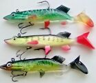 2 Pike Zander & Perch swim bait lures.36grm. 5.5inch Postfree