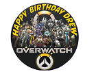 Computer Game Overwatch Custom Birthday Party Cake Decoration Icing Sheet