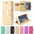 Leather Wallet Card Holder Flip Hands-Free Stand Case Cover For Apple iPhone 7