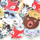 10/50/100pc Forest animals Wood Buttons Sewing Kid's Gif Craft Scrapbooking W237