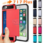 Hybrid Card Pocket Bumper Case Shockproof Cover Armor For Apple iPhone 7/ 7 Plus