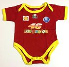 NEW Baby VALENTINO ROSSI Fans MotoGP Racing One Piece Jumper Onesies 0-18 m.o.